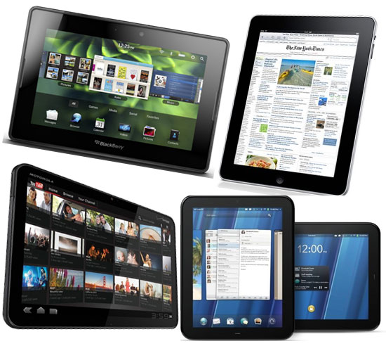 Xoom, iPad, PlayBook, TouchPad