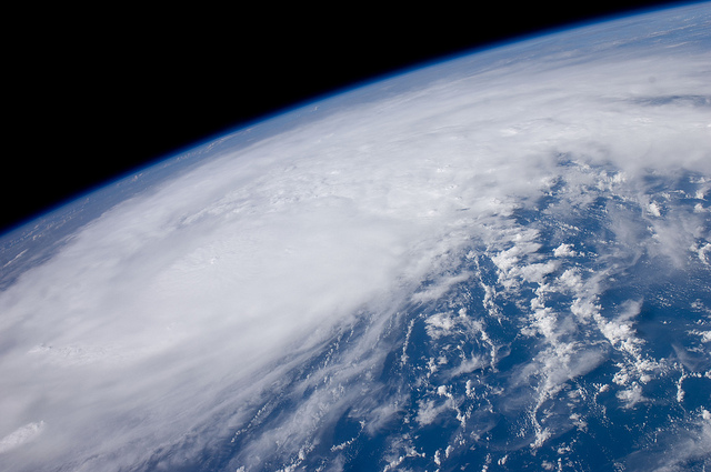 NASA Space Station Hurricane Irene