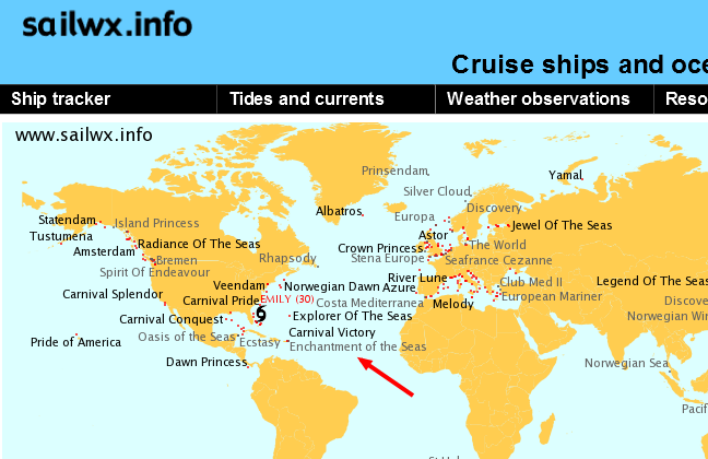 Cruise Ship Tracker