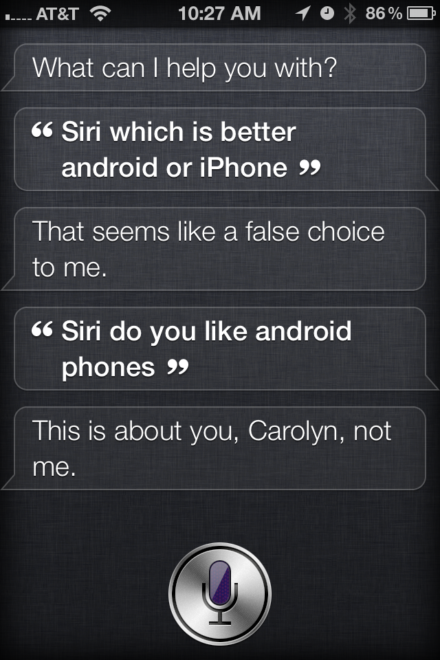 Siri Android vs. iPhone