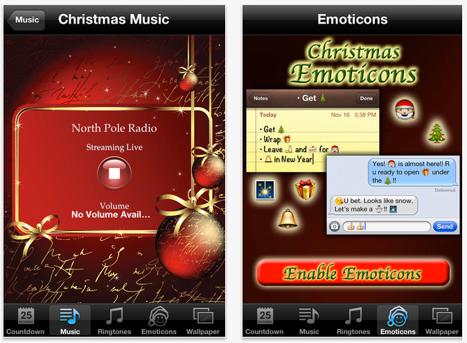 Christmas App iOS Screenshot