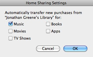 iTunes Homesharing