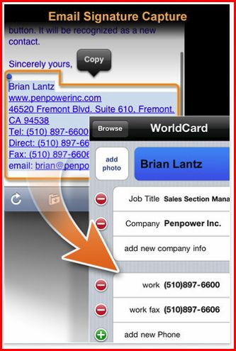 worldcard mobile business card app