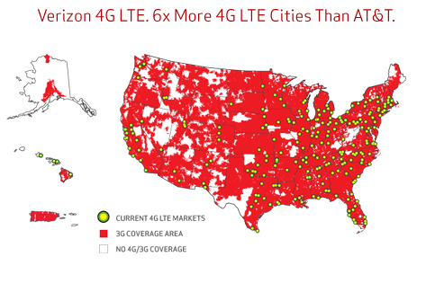 iPad Data 4G LTE Verizon Coverage
