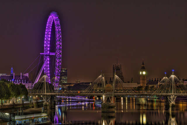 London Eye Light Show