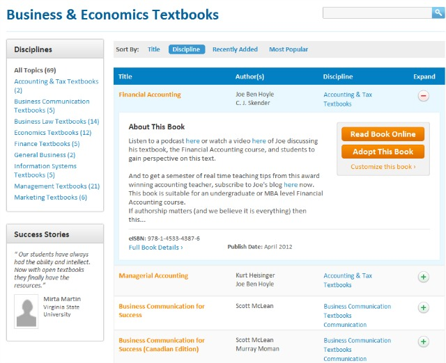 Flat World Digital Textbooks