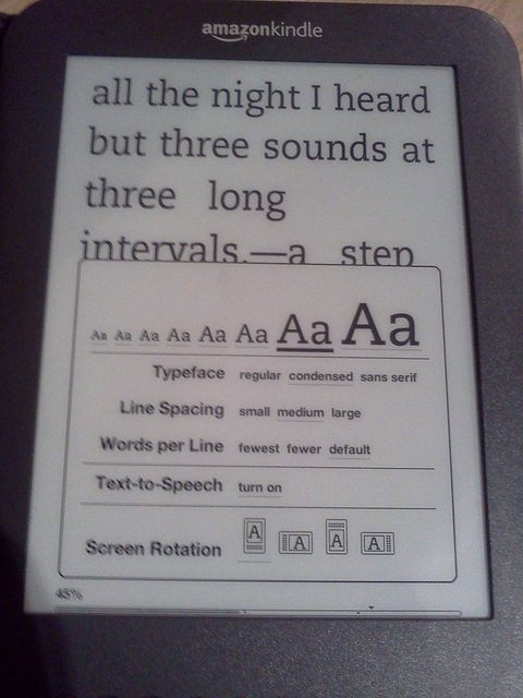 Changing the Size of the Kindle Fonts