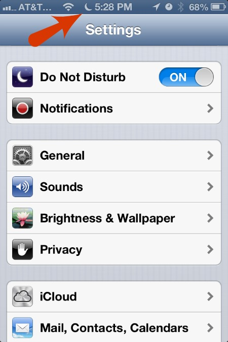 Do Not Disturb Crescent Moon