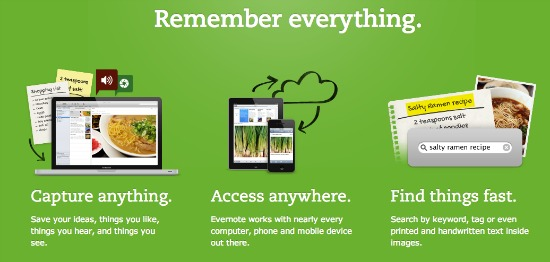 Evernote ideas