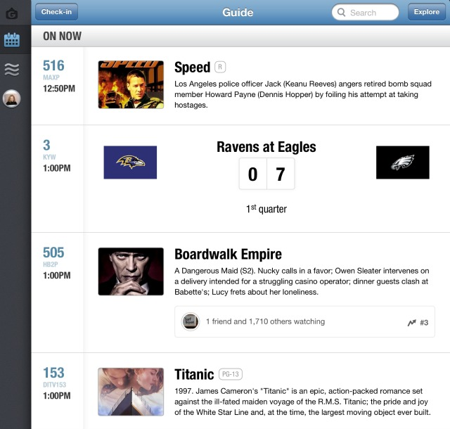GetGlue HD TV show recommendations