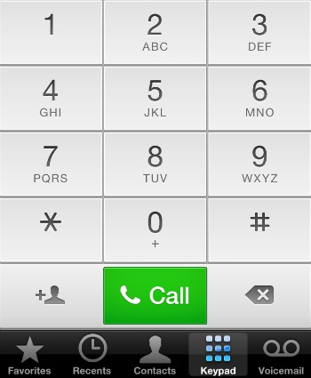 New iPhone Keypad iOS 6