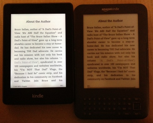 Screen contrast of Kindle Paperwhite and Keyboard