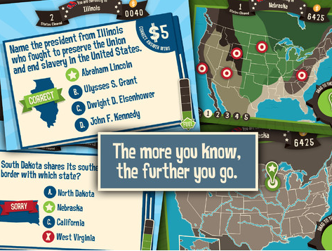 Geography Drive USA Kids App