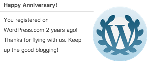 WordPress 2nd Blogiversary