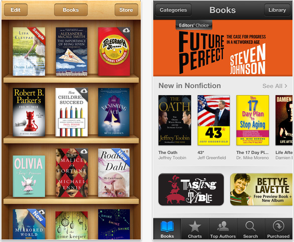 iBooks library