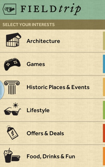 Field Trip App Interests