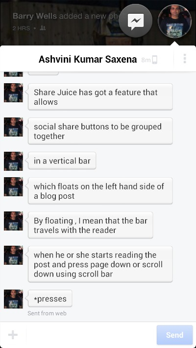 HTC First Chat Heads
