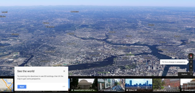 Google Maps Astronaut View