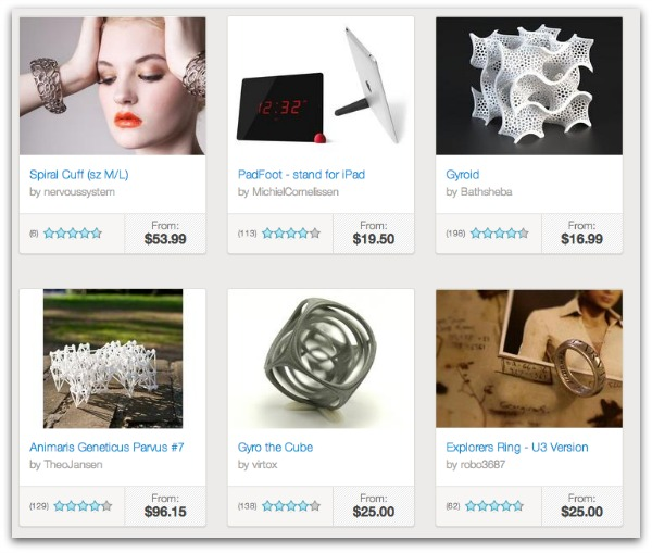Shapeways Marketplace