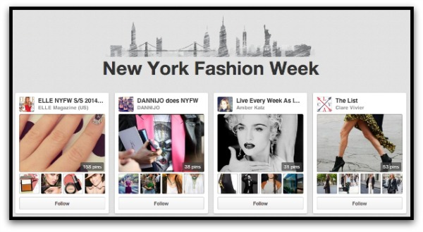 Pinterest NY Fashion Week