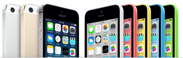 iPhone 5s and 5c colors