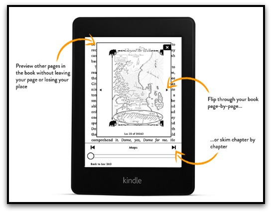 Kindle New Paperwhite Navigation