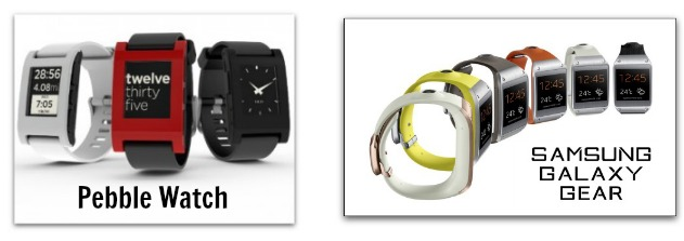 Smartwatches Pebble and Gear
