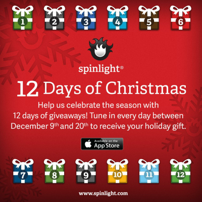 Spinlight Studios Free Apps 12 Days of Christmas