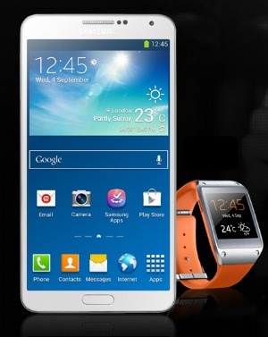 Samsung Galaxy Note 3 and Gear