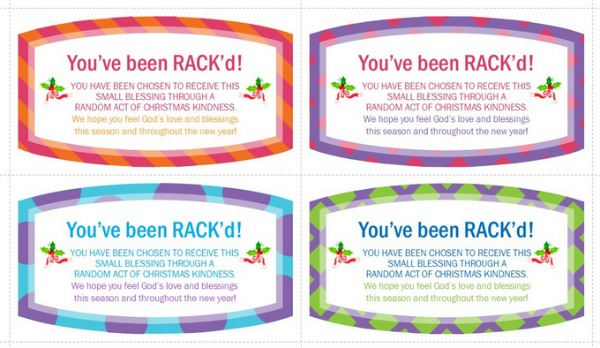 Random Acts of Christmas Kindness Labels