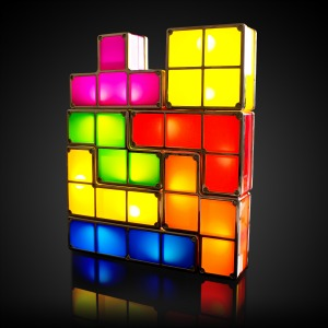 Valentine's Day Tetris Lamp