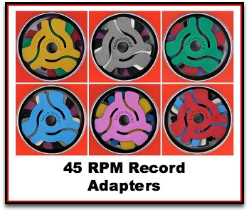 45 RPM Single Records Adapters