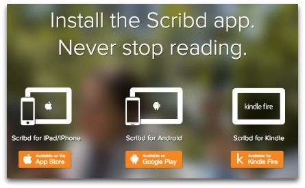 Scribd iPad Android Kindle Fire