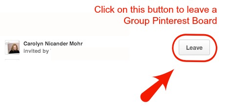 How to Leave a Group Pinterest Board