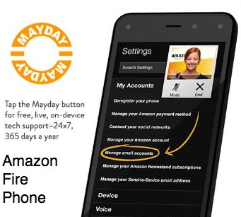 Mayday button Amazon Fire Phone