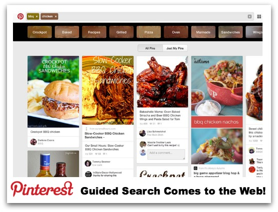 Pinterest Guided Search Web