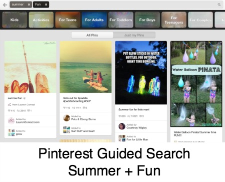 Summer Fun Pinterest Guided Search
