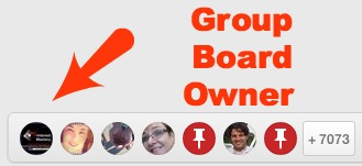 How to find the owner of a group Pinterest Board