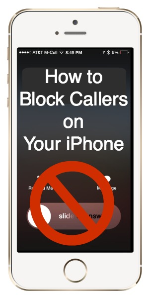 how to block callers on your iphone in 2 easy steps. Black Bedroom Furniture Sets. Home Design Ideas