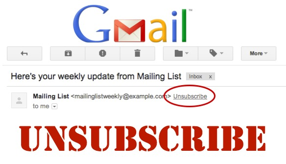 Gmail Unsubscribe Link