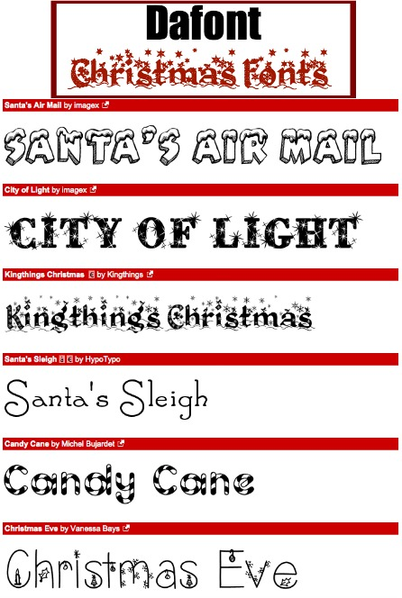 Dafont Holiday Font Collection
