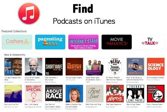 iTunes Podcast search