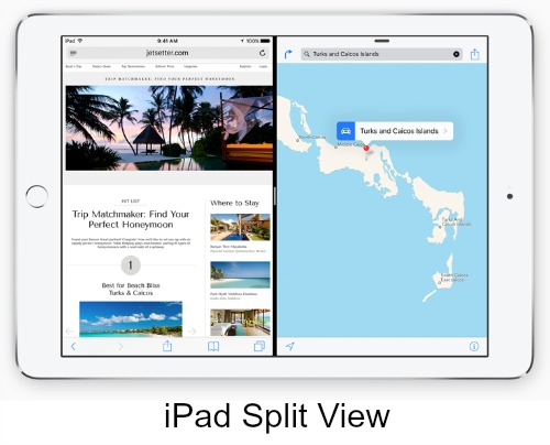iPad Two Apps View