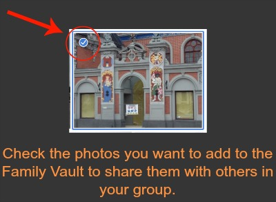 Adding Family Vault Photos