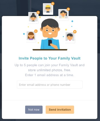 Amazon Prime Photos Family Vault Invitations