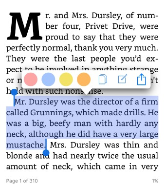Highlighting in the Kindle App