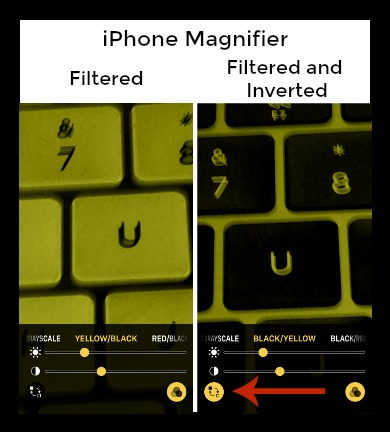 iPhone Magnifying Glass Filter Inverted