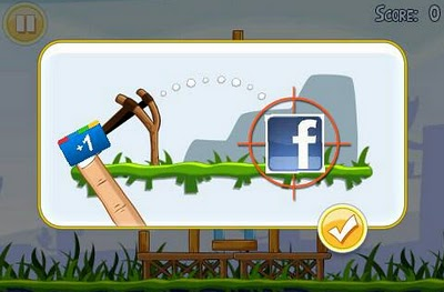 Google+ Facebook Angry Birds