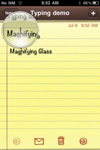 iPhone Magnifying Glass
