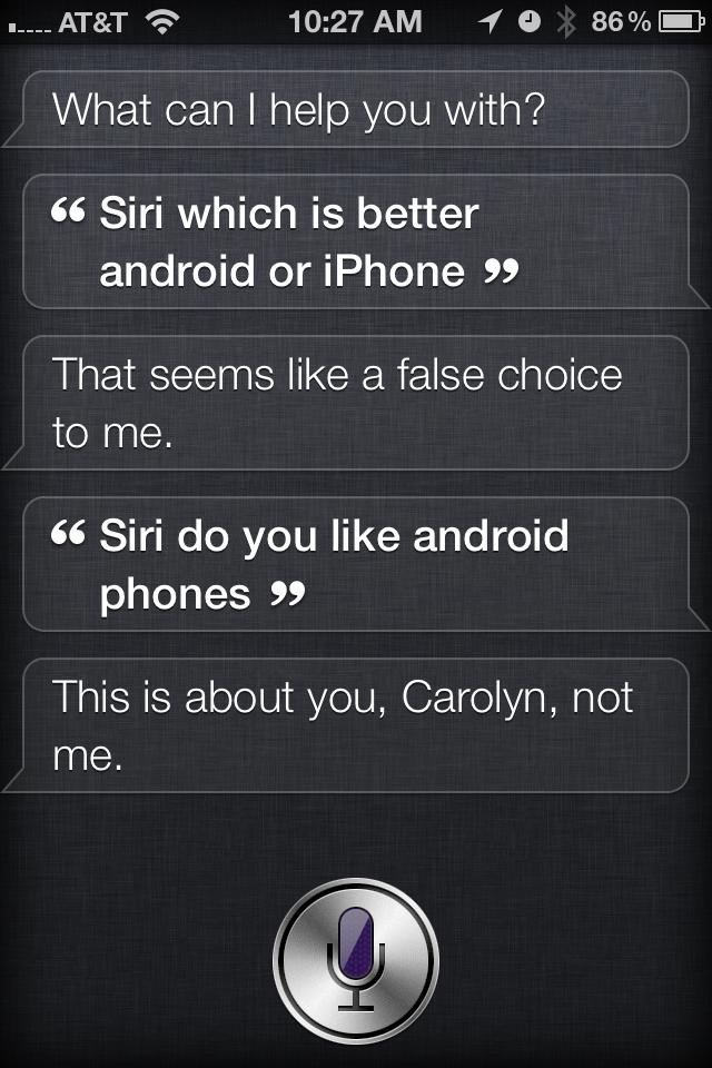 Siri Android vs. iPhone
